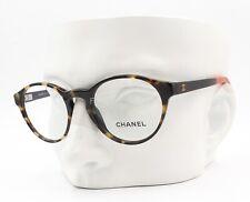 Chanel 3231 1335 Round Eyeglasses Glasses Frames Brown Tortoise 47-19-140