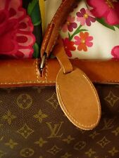 Ultra Rare Vintage LOUIS VUITTON French Company Leather Suitcase LUGGAGE TAG LV