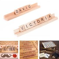 Personalised Name Wooden Racks Scrabble Holders Tiles Wedding Place Setting Sign