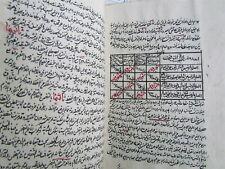 1877 ARABIC MANUSCRIPT ANTIQUE HAND WRITTEN about 400 pages 19th century