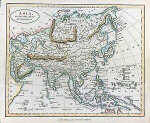 Rare Map of Asia Far East by Thomas Tegg c1823 original engraved hand colour