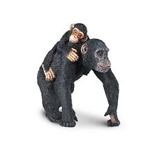 Chimpanzee With Baby Wild Safari Animal Figure Safari Ltd NEW Toys Animals Fun