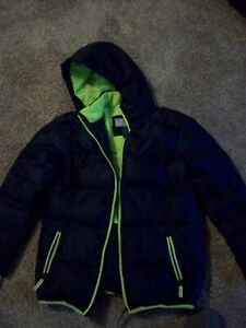 C9 Champion Ski Jacket with Hood Black with Green Edging and lining Size 12-14