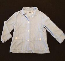 Women's Emma James Button Down Blouse Denim Shirt ~ Sz 10 ~ Blue