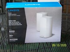 LINKSYS MX10600 MX10 VELOP AX WHOLE HOME WIFI 6 SYSTEM 2 PACK WHITE NEW