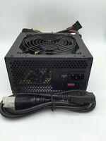New 850W 850 Watt Grill 4.7 Inch Fan Silent ATX Power Supply SATA PCIE Gaming