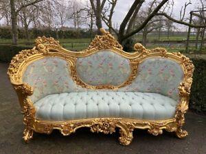 New Rococo sofa  in Green.