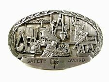 1985 Entex Safety Award Belt Buckle By Indiana Metal Craft 73015