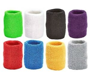 Basketball Tennis Wristbands Cotton Sweatband Set Sport ~ 12 Pair ~ MADE USA
