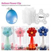 60pcs Arch Balloon Buckle Wedding Party Ballon Plum Flower Clips Connectors Set