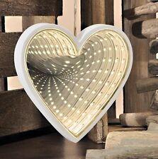 24 blanc chaud Lampes LED Infinity forme coeur miroir 3D effet arrière décor
