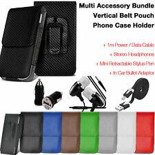 Valore di qualità Nero ✔ verticale Cintura Telefono Custodia Cover ✔ Accessorio Pack