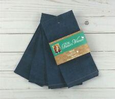 "Fabric Dinner Napkins The Pioneer Woman 18""x18"" Set of 4 Denim Blue"