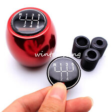 5 6 Speed Manual MT Gear Stick Shift Knob Red Car Lever Shifter Cover Fit Cruze