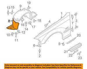 BMW OEM 01-06 325Ci-Front Fender Liner Splash Shield Left 51718224985