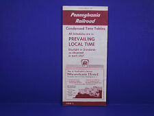 1958 Pennsylvania Railroad Timetable 4/27 Condensed All Local Form 2 1st Ed.