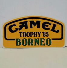 Adesivo Sticker CAMEL TROPHY '85 BORNEO - Auto moto vintage anni '80