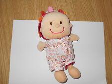 DOUDOU hochet poupée bébé Eline LILLIPUTIENS coccinelle fleur