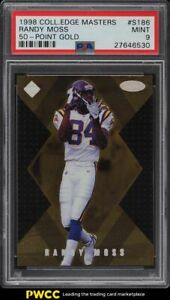 1998 Collector's Edge Masters 50 Point Gold Randy Moss ROOKIE /150 #S186 PSA 9