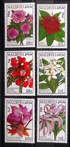 MALDIVE ISLANDS 1987 Flowers SG1226/31 U/M SALE NL929