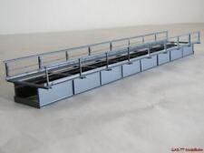 H0 T30 Blechträgerbrücke gerade 30cm grau Hack 12210