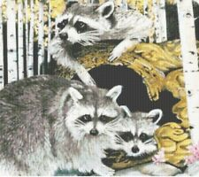 NEW*** RACCOON ANIMALS CROSS STITCH PATTERN