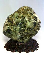 Natural polished Viewing stone suiseki- plum jade specimen fm Taiwan amazing Dai