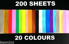 JAPANESE ORIGAMI PAPER - 200 pieces 20 Colours 15x15cm Made in Japan.