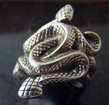 Natural Born Killers snake ring silver plated size 6