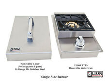 LION PREMIUM GRILLS SINGLE DROP IN BBQ ISLAND SIDE BURNER 15KBTU NATURAL GAS