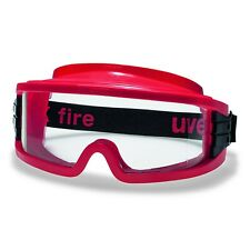 UVEX 9301633 Ultravision Large Vision Lunettes Confort Anti-buée Rouge - Clair
