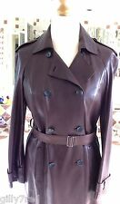New-Stunning, Softest GERARD DAREL Brown Lamb Leather Coat-UK Size 16-RRP £1,375