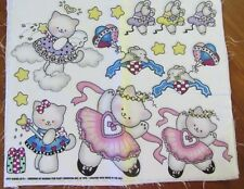 """DAISY KINGDOM IRON-ON NO SEW FABRIC APPLIQUES - """"KITTY WISHES"""" , QTY. 5 PANELS"""