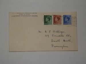 (A379) K.E.VIII FIRST DAY COVER WITH BIRMINGHAM CDS, TWO HINGE MARKS ON REAR