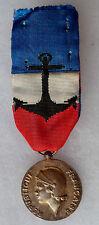 Médaille d'Honneur Marine Nationale ARGENT attribuée 1989 ORIGINAL French medal
