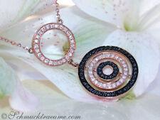 Unbehandelte Halsketten und Anhänger im Collier-Stil aus Rotgold mit Diamanten