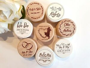 PERSONALISED Wedding Ring Box Names & Date, Text for Engagement and Proposals