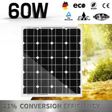 12V 60W Solar Panel Mono Power Charging Home Generator Caravan Camping