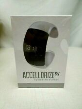 Accellorize Sports Bracelet Silver Bluetooth IOS 6+ Android 2.3 + NEW/SEALED FS