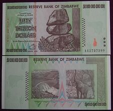 4X ZIMBABWE 50 TRILLION DOLLARS CURRENCY 2008 AA SERIES! (OVER 100 IN STOCK!)