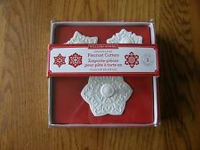 Set3 Williams Sonoma Snowflake Pie Crust/Cookie Cutters/Cupcake Topper-Christmas