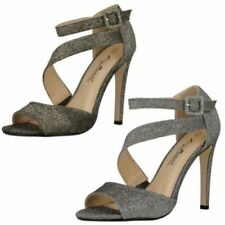Anne Michelle Buckle Open Toe Heels for Women