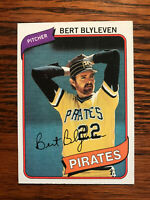 1980 Topps #457 Bert Blyleven Baseball Card Raw HOF Pittsburgh Pirates