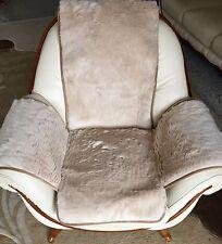 Sesselschoner, Sitzunterlage mit Seitentaschen 100% Lama Wolle