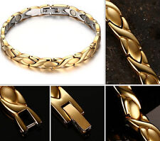 New Women Ladies Titanium Stainless Steel Magnetic Therapy Chain Bracelet Bangle