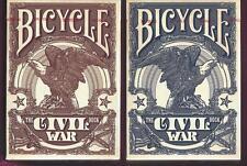 2 DECKS Bicycle Civil War playing cards
