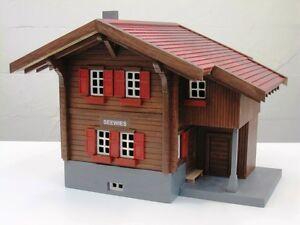 Bahnwärterhaus Seewies Bausatz wetterfestes Teakholz