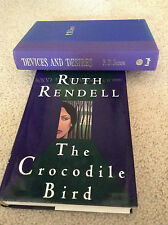 Devices and Desires P. D. James Crocodile Bird Ruth Rendell  HC 1st  AUTOGRAPHED