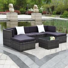 7 PCS Garden Outdoor Rattan Sofa Set Patio Wicker Couch Sectional Furniture Set