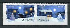 Norway 2017 MNH Christmas In City & Countryside 2v S/A Set Trees Stamps